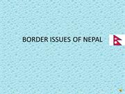 BORDER ISSUES OF NEPAL