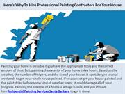 Here's Why To Hire Professional Painting Contractors For Your House