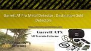 Garrett AT Pro Metal Detector  Destination Gold Detectors