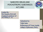 Narcotic drugs and psychotropic substances act 1985 and rules