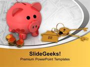 PIGGY BANK SAVING AND SECURITY REAL ESTATE POWERPOINT TEMPLATE