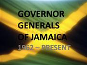 Governor Generals of Jamaica