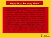 heavy duty planetary mixers