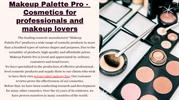 Makeup Palette Pro - Cosmetics for professionals and makeup lovers