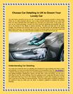 Choose Car Detailing in UK to Groom Your Lovely Car - SentinelAutocare