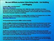 No cost Affiliate marketer Advertising Guide - List-Building