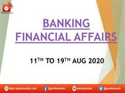 BANKING  AWARENESS 11TH TO 19TH AUG 2020