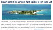 Popular Islands In The Caribbean Worth Including In Your Bucket-List