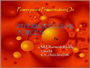 Power point Presentation On Intermolecular Forces
