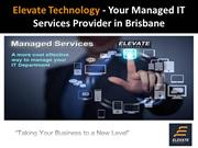 Elevate Technology - Your Managed IT Services Provider in Brisbane