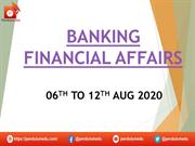 BANKING  AWARENESS 6th to 12th august  2020