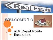 buy 2 bhk flat in noida extension -AIG Royal greater noida west