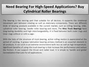 Need Bearing For High-Speed Applications Buy Cylindrical Roller Bearin