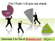 Push, Pull, Lift your Pie Charts – Free Silhouettes for Powerpoint