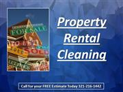 property rental cleaning 321-216-1442 orlando