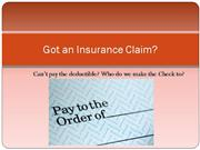 financial assistance for insurance claims