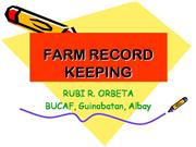 FARM RECORD KEEPING