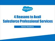 4 Reasons to Avail Salesforce Professional Services