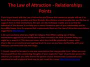 The Law of Attraction - Relationships Points