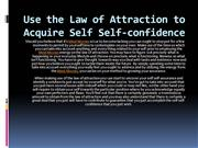 Use the Law of Attraction to Acquire Self