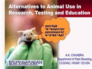 RESEARCH ETHICS-Alternative to Animal Uses In research