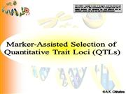 Marker Assisted Selection for QTLs