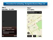 Maps 3.0 License activation procedure