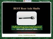 Best Rear Axle Shafts For Your Vehicle