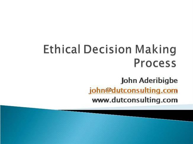 What is the hodgson ethical decision making framework