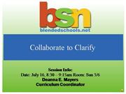 collaborate to clarify
