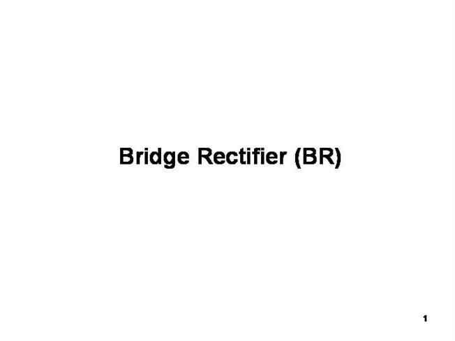 Bridge rectifier hookup