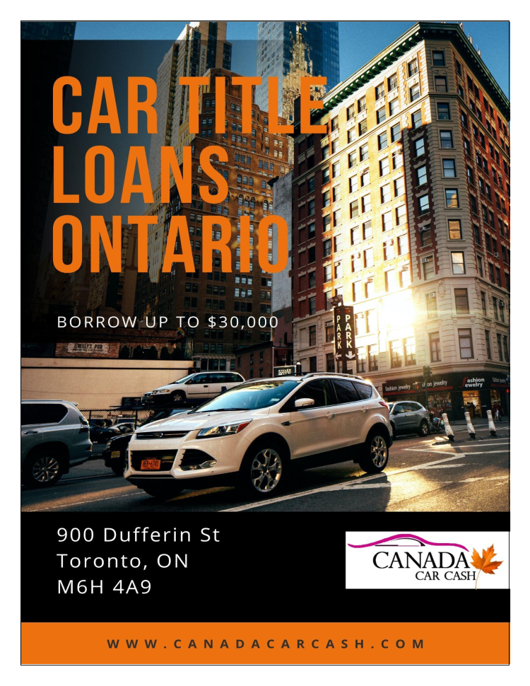Car Title Loans Ontario when Your Credit is Terrible ...