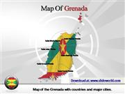 grenada map powerpoint template