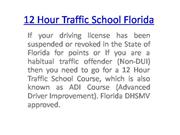 12 Hour Traffic School Florida
