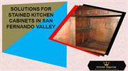 Solutions for Stained Kitchen Cabinets in San Fernando Valley