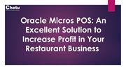 Micros POS- An Excellent Solution to Increase Profit in Restaurant