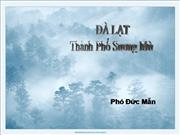 DaLat -Thanh Pho Suong Mu - Pho Duc Man
