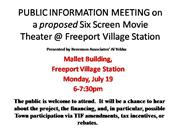 PUBLIC_INFORMATION_M EETING_on_a_proposed _Six_Screen_Cinema