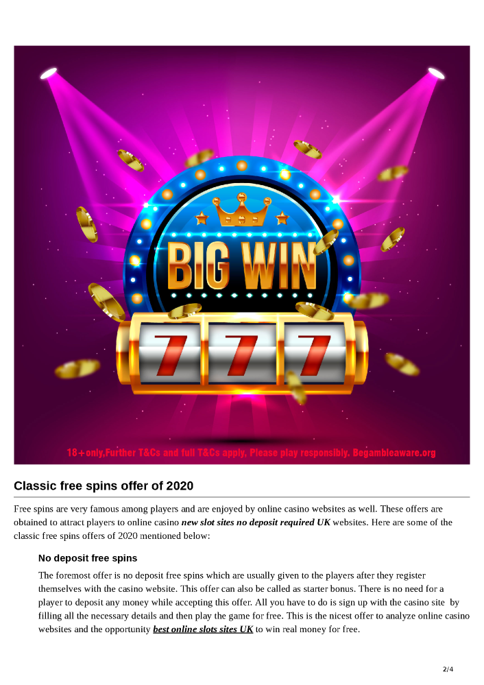 Free Spins No Deposit 2020 Authorstream