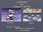 Devesh ppt on Stability testing