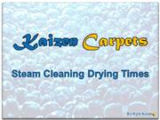 Kaizen Carpet Cleaning - Carpet Drying Time
