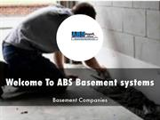 ABS Basement systems Presentation