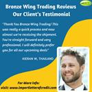 Bronze Wing Trading Reviews – Our Happy Client's Review