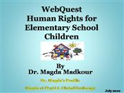 Children Human Rights WebQuest
