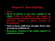 Stress Physiology