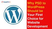 PSD to WordPress Should be Your First Choice for Website Development