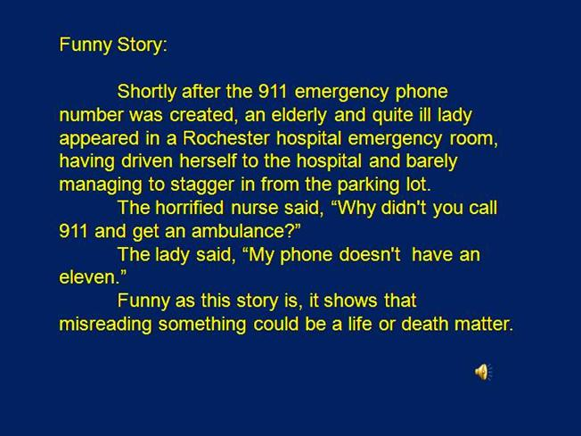 Funny Stories Essay