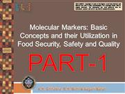 Molecular Markers  in Food Security PART1