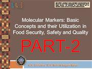 Molecular Markers  in Food Security PART2