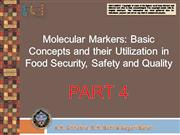 Molecular Markers  in Food Security PART 4